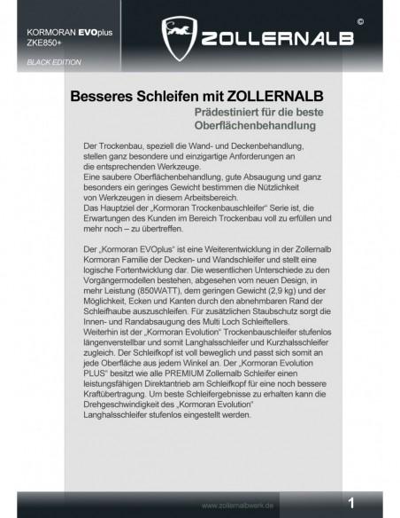 Zollernalb Wombat ZW2400 Mauernutfräse Schlitzfräse Fräser 35mm